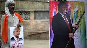 happy birthday donald trump u2013 hindu sena cuts cake for u0027messiah