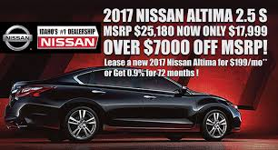 nissan altima zero percent financing dennis dillon nissan new nissan dealership in boise id 83704