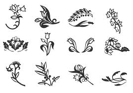 floral ornament vector set free vector stock