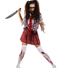 ladies zombie costume undead scary horr ghost halloween hen night