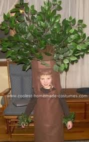 crab apple tree costume we made for our granddaughter costume