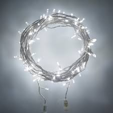 String Of Fairy Lights by 60 White Led Connectable Clear Cable Fairy Lights Lights4fun Co Uk