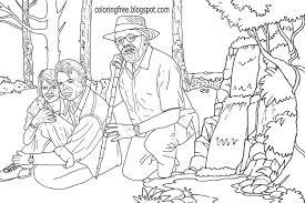 jurassic park raptor coloring pages contegri com