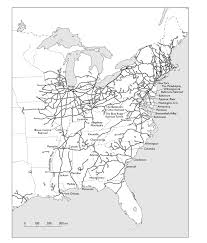 United States Civil War Map by William G Thomas The Iron Way Railroads The Civil War And The