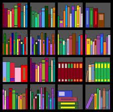 books on shelf clipart 34
