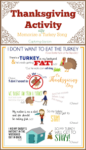 thanksgiving song i don t want to eat the turkey