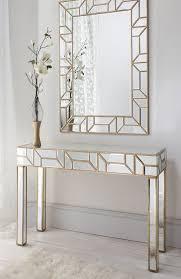 Mirror Console Table Geometria Gold Mirrored Console Table Mirror Set Mirror Set