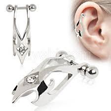 helix cartilage earrings surgical steel hawk cartilage earring