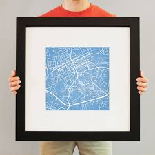 Unc Map University Of North Carolina At Chapel Hill Campus Map Art City