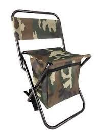 kikkerland camo backpack folding stool hiking portable compact