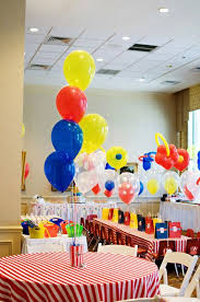 Carnival Themed Table Decorations Bright U0026 Bold Circus Party Ideas Magic Party Decoration And