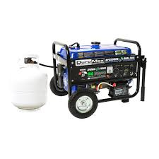 duromax 5 500 watt 7 5 hp dual fuel gasoline propane electric