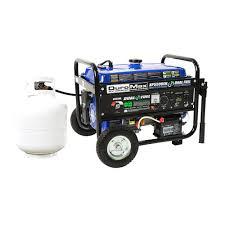duromax 5 500 watt 7 5 hp dual fuel gasoline propane electric