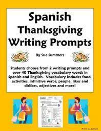 thanksgiving vocabulary writing assignment 2 writing prompts