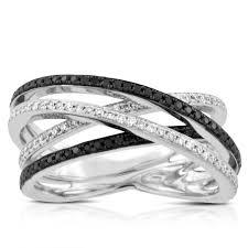white diamonds rings images Black white diamond criss cross ring 14k ben bridge jeweler jpg
