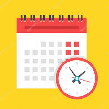 conceptmodern vector calendar and clock icon schedule appointment important