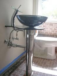 Vessel Pedestal Sink Gallery Of Plumbing Projects