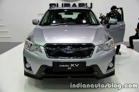 subaru crosstrek white 2016 2016 subaru xv sti facelift front at the thai motor expo live
