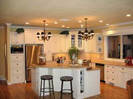 small eat in kitchen ideas recessed downlights white exposed brick