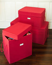 Christmas Ornament Storage Box Ideas by Red Canvas Storage Boxes