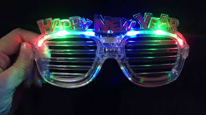led new years happy new year led glowing eye glasses for party decoraiton