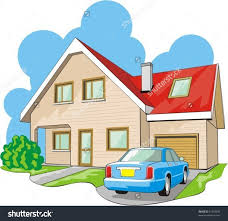 Home Clipart Dwelling Twostory House Garage Stock Vector 81304336 Shutterstock