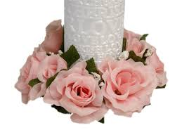 flower candle rings 24 artificial roses flowers candle rings centerpieces wedding
