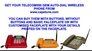 cortelco wall mount phone capetune telecom500 formally called dph500 gsm autodial desk wall
