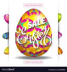easter egg sale easter egg sale banner background template 30 vector image