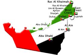 uae map 7 emirates in uae seven emirates in the uae list of emirates in uae