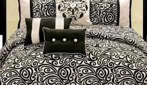 bedding set prominent black white and aqua bedding glamorous