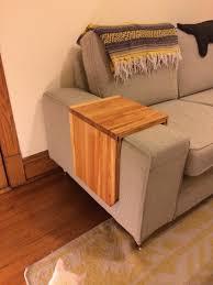 rebuilding exchange u2022 design and make an integral sofa arm table