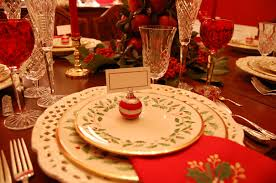 Holiday Table Decorations by Christmas Tablescape With Lenox Holiday And A Colonial