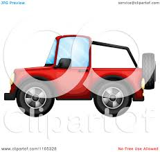 christmas jeep clip art cartoon of a red jeep royalty free vector clipart by graphics rf