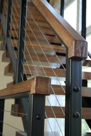 Metal Stair Rails And Banisters Best 25 Cable Railing Ideas On Pinterest Loft Railing Banister