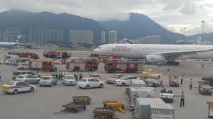 delivery van crashes into dragonair plane carrying 295 people at