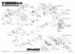 t maxx 3 3 49077 3 transmission assembly exploded view traxxas