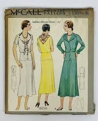 dress pattern brands sewing pattern art deco 1920s vintage mccall 6530 misses dress bust