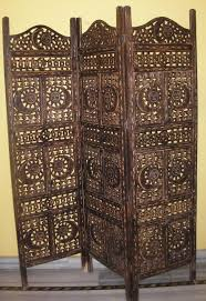 vintage fancy solid wood wall partition with butterflies pattern