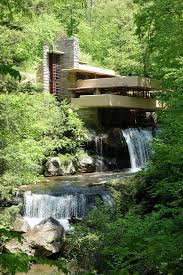 house built over waterfall frank lloyd wright fallingwater house