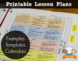 lesson plan template lesson plan binder kindergarten and