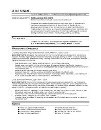 Resume Example Entry Level by Mechanical Maintenance Engineer Sample Resume 22 Hvac Sample