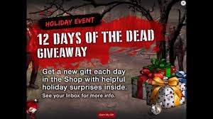 walking dead road to survival 12 days of the dead gift 1