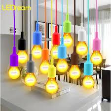 silicone light bulbs wholesale 13 colors e27 led edison bulb socket l holder base light fixture