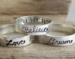 inspirational rings secret promise ring etsy