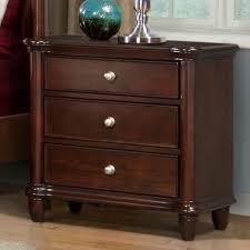 picket house furnishings hamilton 3 drawer nightstand warm brown
