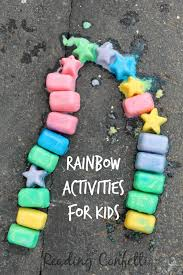rainbow activities from the kid u0027s co op reading confetti