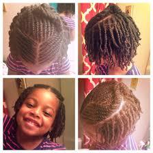 kids natural hair style half up half down flat twist two