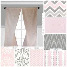 Pink And Grey Nursery Curtains Baby Pink And Gray Curtains Nursery Childrens Curtain Panels