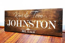 Engraved Wooden Gifts Personalized Family Name Sign Wedding Gift Custom Carved Wooden